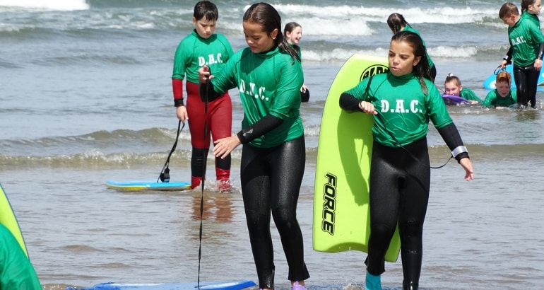 Surfing and sports in the great outdoors
